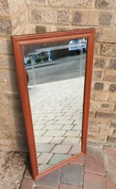 **£25** Large Vintage Wooden Framed Bar Mirror