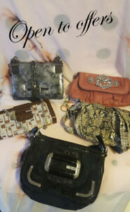 Guess/random side satches and clutches