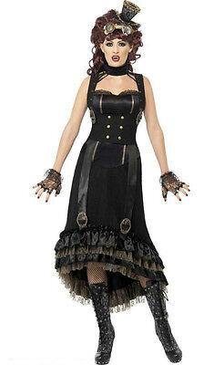 Steampunk Vamp Victorian Gothic Adult Costume Size - Gothic Victorian Halloween Costumes