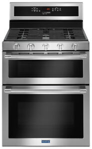 """Maytag MGT8800FZ 30"""" double oven Gas Range with true convection"""