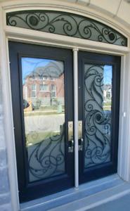 DECOR DOOR GLASS INSERTS FOR ALL EXTERIOR DOORS