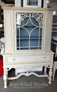 Antiqued China Cabinet by Red Wind Studio