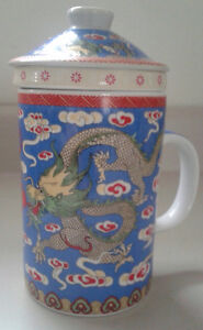 Chinese Tea Cups with Strainer and Lid
