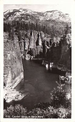 Postcard Rppc Cabinet Gorge North Idaho
