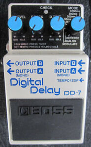 Boss DD-7 Digital Delay w 40 Sec Looper with Unlimited Overdubs