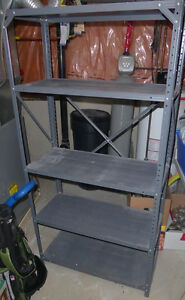 Large aluminum storage shelf in very good, sturdy condition
