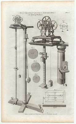 Mechanik - Mechanics - Waagen - Gewichte - Kupferstich 1788