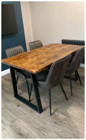 Bespoke handmade dining tables and benches rustic style reclaimed