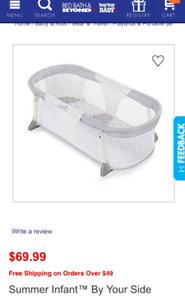 Summer infant portable co-sleeper bassinet - GUC