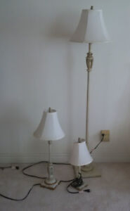 REDUCED 5 matching lamps GREAT PRICE