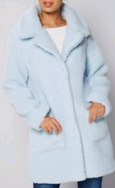 Ladie light blue coat size 12 new