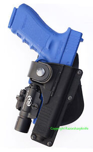 Fobus Tactical Speed Paddle Holster for Glock 17 22 with Light / Laser RBT17 New