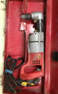 "Milwaukee 1/2"" Angle Drill with case, Very good condition."