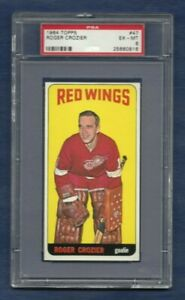 ROGER CROZIER .. 1964-65 Topps TALL BOY ... ROOKIE CARD .. PSA 6