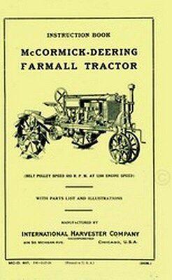 Farmall Deering Regular Tractor Operators Manual Ih