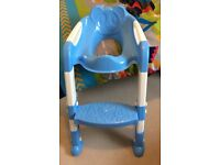 Toddler toilet seat and step