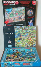 Jigsaws x 3 1000 pieces