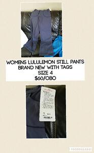 Women's Lululemon still pants brand new w/ tags