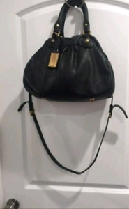 Marc Jacobs Black Leather Satchel $100
