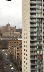 Furnished 2 bdrm, 4.5 downtown Montreal short term July, August