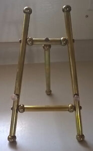 Brass Metal Picture Easel Stand, Tabletop Picture Frame Easel