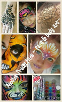 Face painting, body painting, henna, glitter tattoos, Elsa