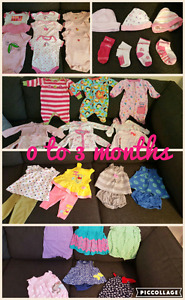 Baby Girl Clothes Bundles:  0-3, 3-6, 6-12 months