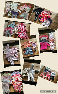 Baby girl clothing NB, 0-3, 3