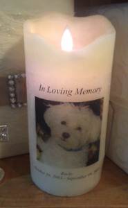 LED Memorial Candle 6.5 tall