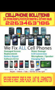CellPhone Solutions:  Repairs, Unlocking,  Accessories,software