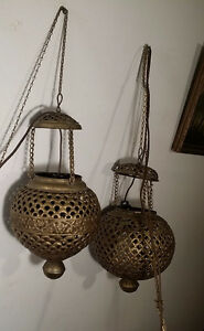 2 Lustres Lampes supsendues Antique -