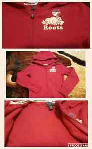 Roots zip up hoodie for girls size M  (7-8)
