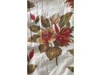 Luxury Handmade Red/green flower heavy lined Jacquard Curtains, long and wide