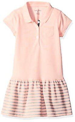 Nautica Childrens Apparel Little Girls Pique Dress W/ Stripe Skirt and