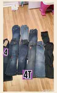 Groups of girls pants 4T, 3T, 2T, and 5T...prices in details
