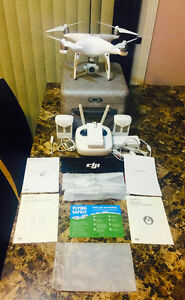 DJI PHANTOM 4, 10/10 CONDITION-2 BATTERIES!