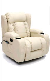 Cream Armchair Recliner Rocking swivel Armchair new free local deliver