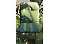 Four reversible garden seat cushions