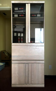 Bookcase / Secretary Desk with Solid Wood Frame