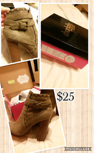 Brand new Charlotte Russe suede booties