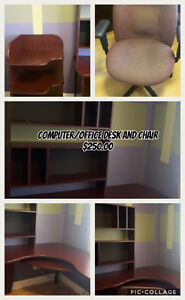 REDUCED! NEED GONE ASAP Computer/Office Desk and Chair