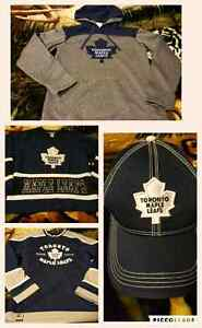 Toronto Maple leaf jerseys, hoodie, and hat