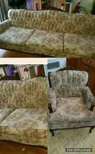 French provincial couch and chair BEST OFFER