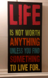 """ Life Quotes "" Canvas Painting"