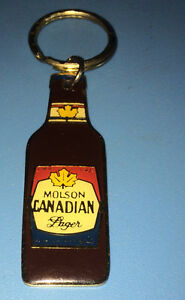 Molson Canadian Lager Beer Bottle Key Chain made of Metal