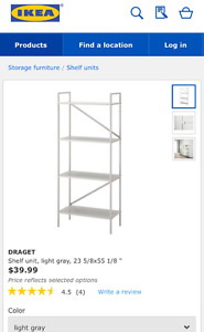 IKEA Shelf unit (similar to this in white)