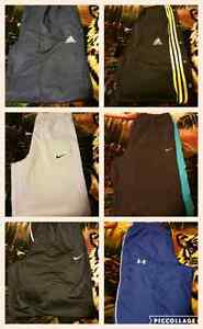 Men's active wear bottoms: under Armour, nike, and Adidas