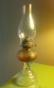 Vintage Oil Lamp with Queen Mary burner