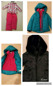 Girl's Coats, Snowsuit and Hats!