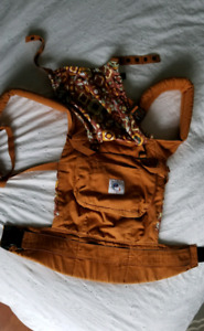 Ergo baby carrier with infant insert.
